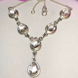Jewelry - Sterling Silver.925 White Topaz Necklace